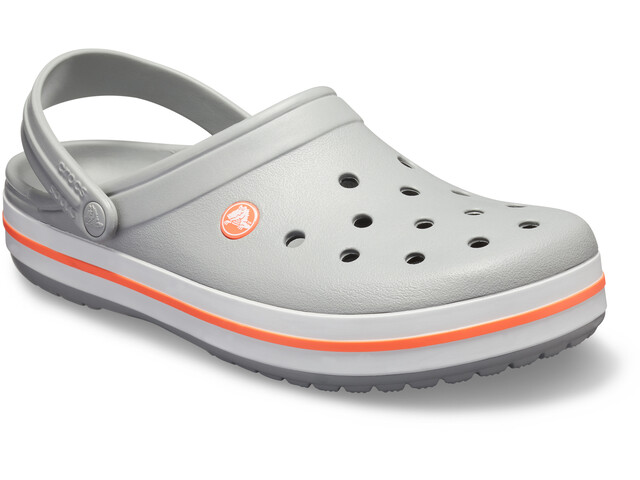 Crocs Crocband Clogs light grey/bright coral